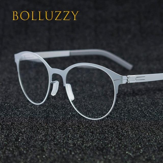d9325c2d87 Men Women s Cat Eye Big Round Rim Eyeglasses Frame Eyewear No Screw No  Welding Golden Reading