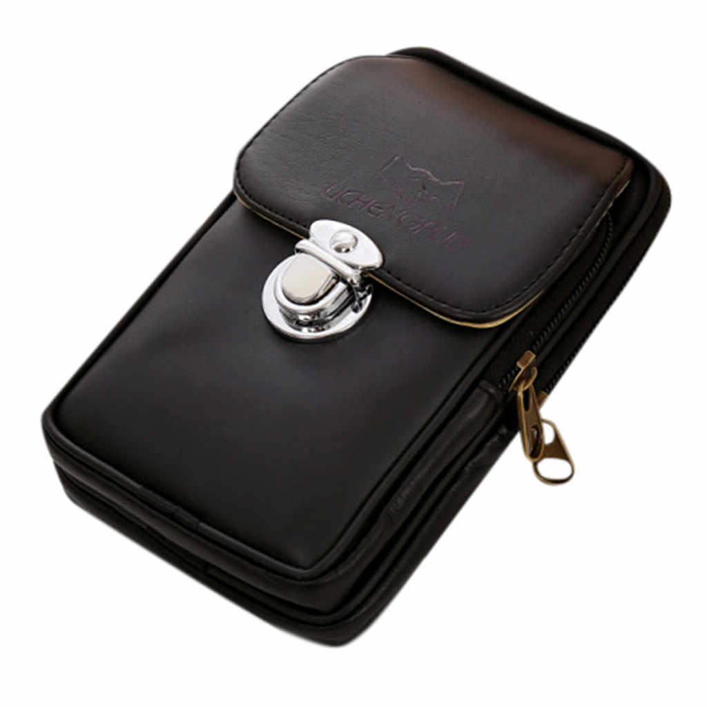 Pacote de Saco de Cinto de Dinheiro Homens Preto À Prova D' Água Bolsa Carteira de Viagem do Adolescente Masculino Cinto Cintura Pacotes de Sacos de Cintura Celular Qualidade # GEX