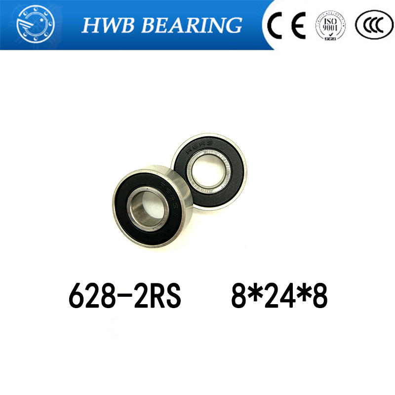 4 PCS S628-2RS 8x24x8 mm 440c Stainless Steel Rubber Sealed Ball Bearings