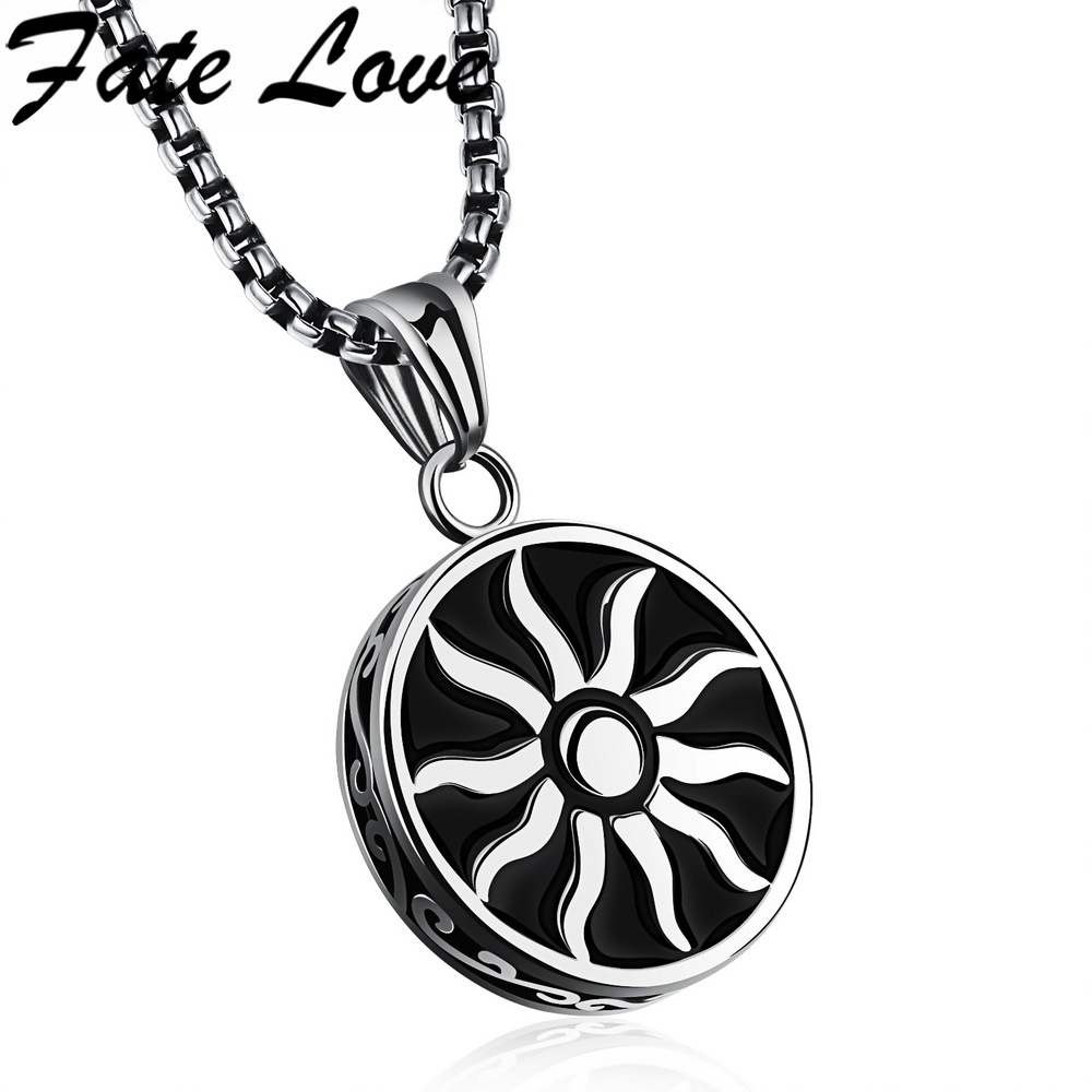 Fate Love Hiphop Style Men Jewelry Apollo Helios Necklaces Pendant 316L Stainless Steel Blaze Design Necklace Choker Male FL1130 ...