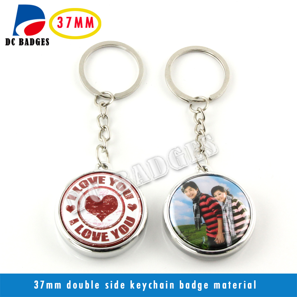 High Quality 37mm blank badge keychain buttom machine material 500sets high quality