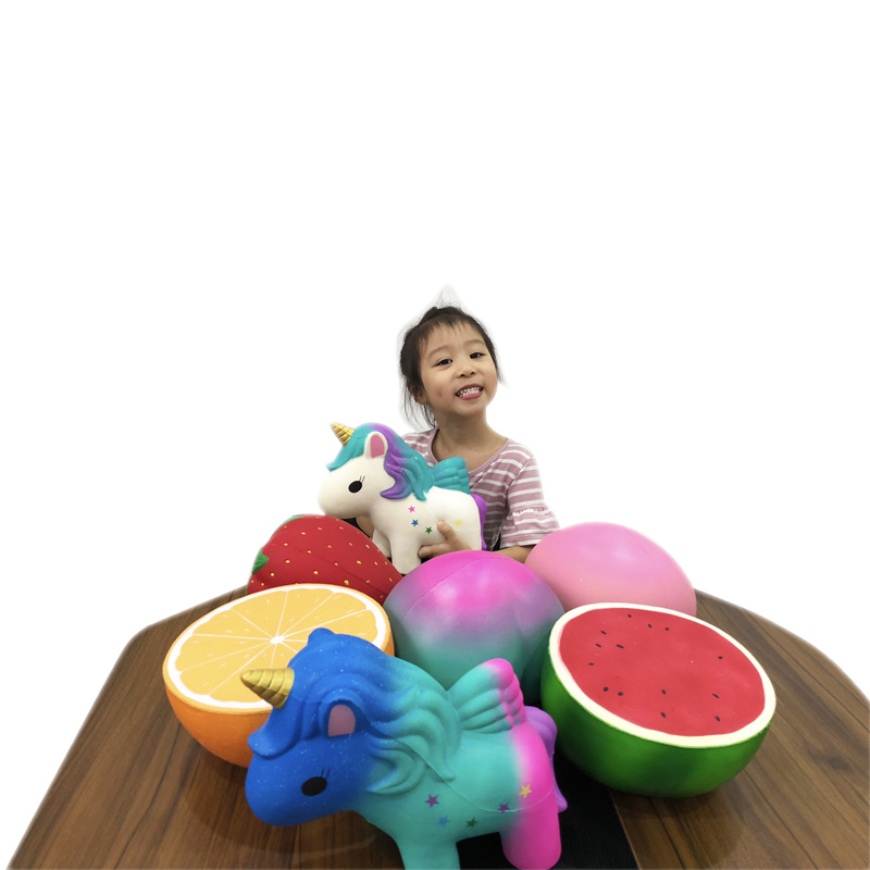 Super Big Giant Fruit Squishy Slow Rising Orange Watermelon Strawberry Peach Unicorn Jumbo Soft Kawaii Squishies Toys