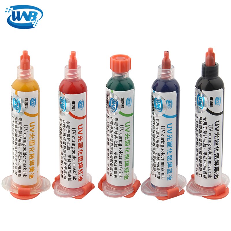 WNB 10CC UV Solder Resist BGA PCB Curable Solder Mask Protect Soldering Welding Paste Flux Oil Paint Prevent Corrosive Arcing