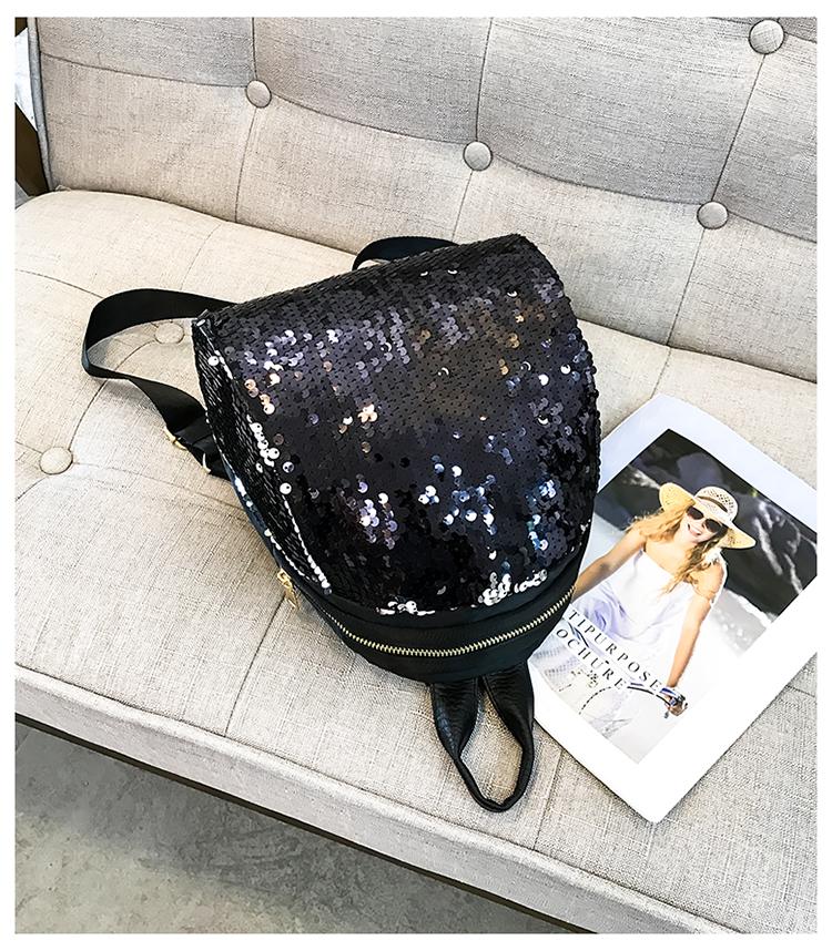 Backpacks women Korean mini 2018 new sequined shell fashion trend women go with small backpacks travel backpack 95