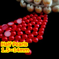 Siam Color 1.5mm~25mm All Size Choice Flat back ABS round Half Pearl beads, imitation plastic half pearl beads
