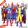 Marvel Titan Hero Series Avengers Superheroes PVC Action Figures Toys 30cm Venom Iron Man Thor Darth Vader Green Goblin Kid gift