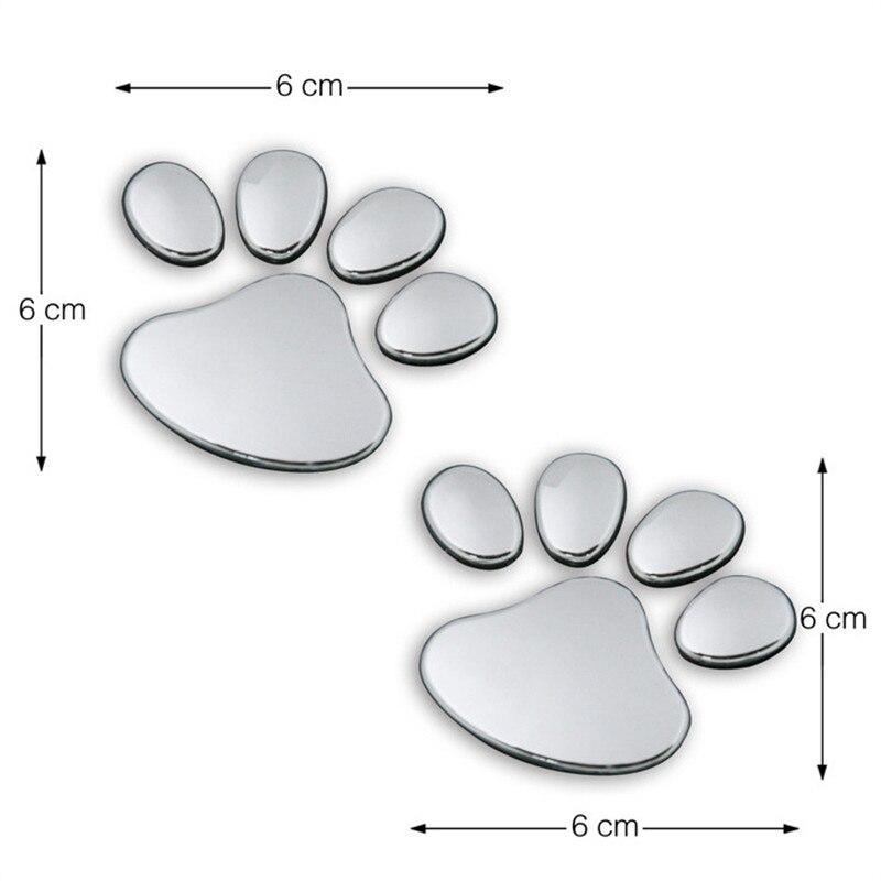 1 Paar Auto Form 3d Hund Pfote Impressum Pvc Aufkleber Auto Aufkleber Hund Panda Tier Fußabdruck Aufkleber