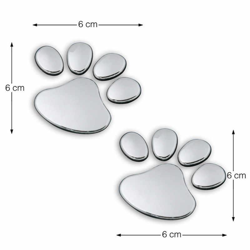 1 paire De Voiture forme 3D chien patte empreinte PVC autocollant de décalque de voiture chien panda animaux empreinte autocollant