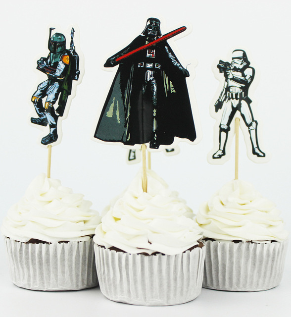 Star Wars Cupcake Toppers Party Boy Baby Bridal Shower Birthday Forest Wedding Cake Topper Decor