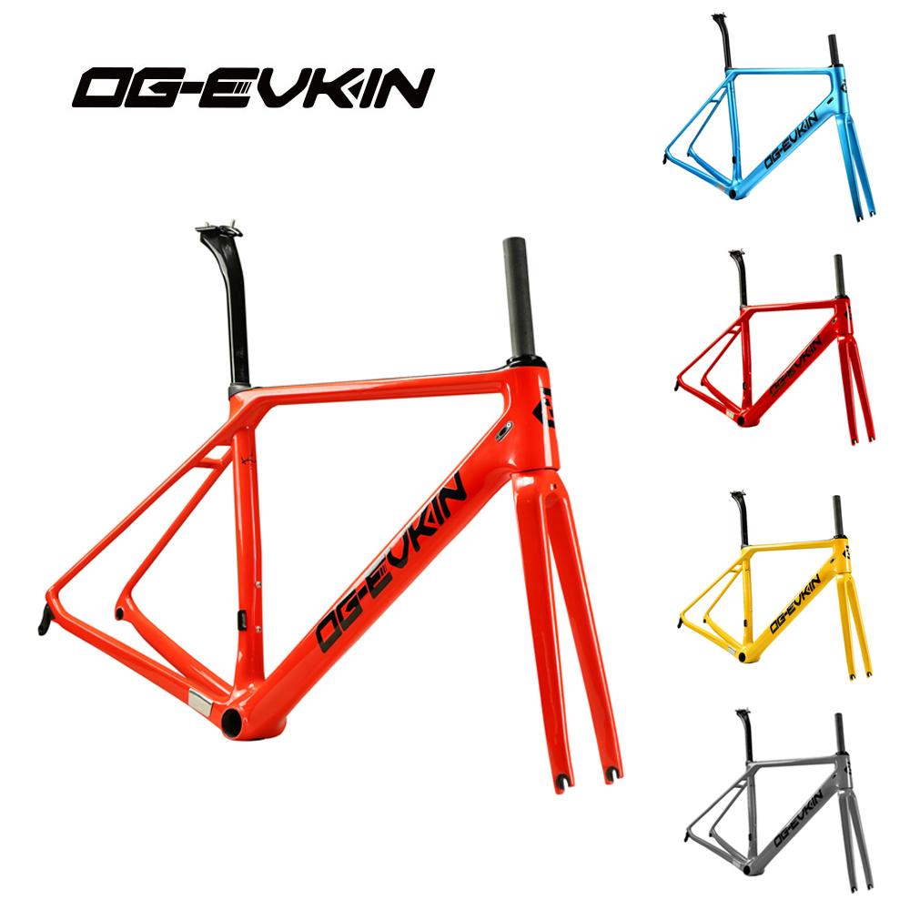 OG-EVKIN 2017 Light Weight Carbon Road Bike Frame+Fork Bicycle Frameset Glossy UD Di2 Velo bici BICICLETTA BB86 2 Years Warranty best price portable usb 2 0 type a male to usb type b female plug extend printer adapter converter new arrival for
