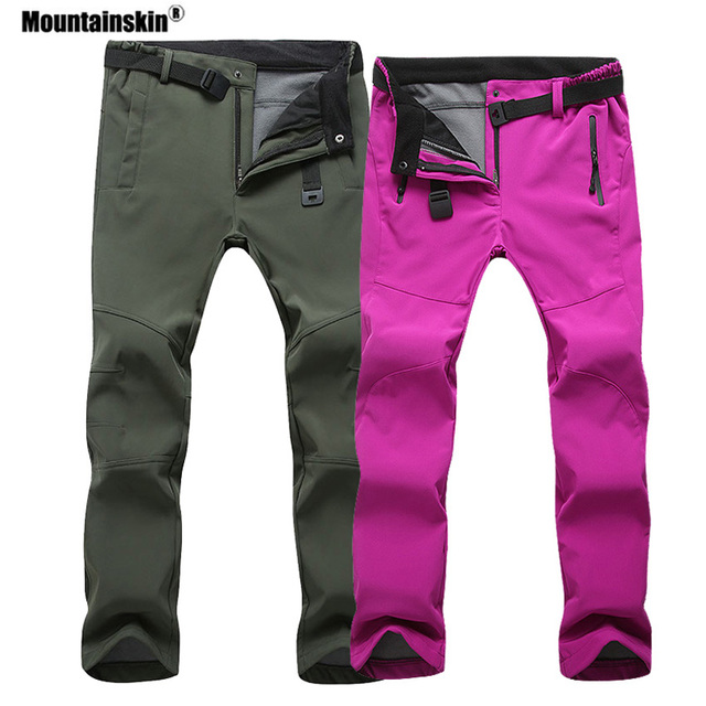 Mountainskin Women Men Fleece Pants Waterproof Warm Windproof Pant Outdoor Fishing Camping Hiking Skiing Trousers Brand VA281 1