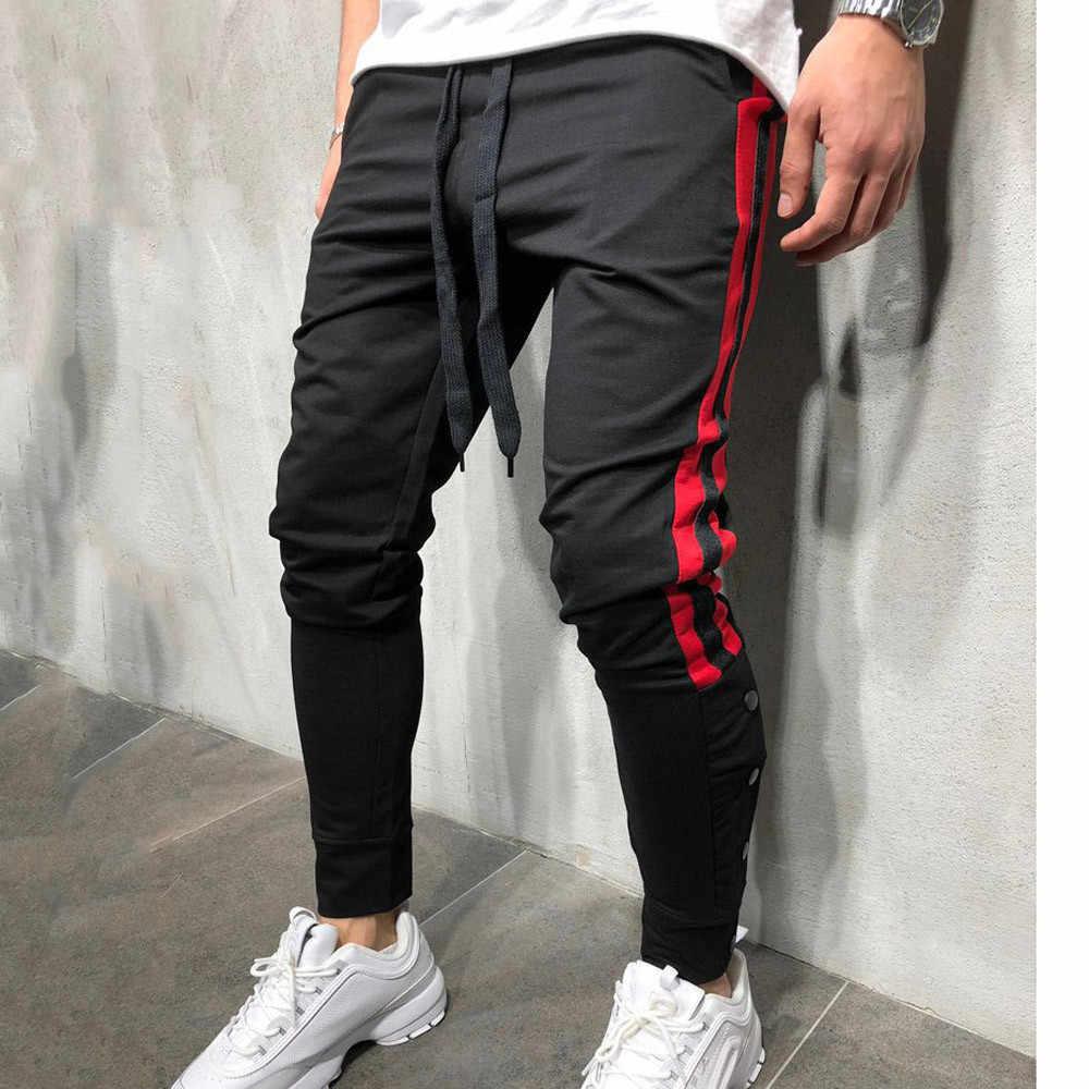 Pantalones De Moda Para Hombre Pantalon De Chandal Informal Liso Holgado Suave Y Comodo Con Botones De Retales Pantalon Jogger Aliexpress