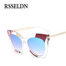 RSSELDN Brand Cat Eye Sunglasses Women High-grade Transparent Framework Fashion Sun Glasses For Women oculos de sol