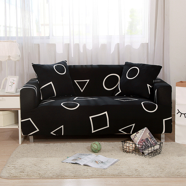 New Fashion Printed Universal Stretch Sofa Covers Polyester Modern Loveseat Couch Cover 24 Colors 1