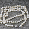 Natural pearl 7-8mm pearls white beads for women long chain charms necklace gifts wholesale price jewelry making 36inch B3239
