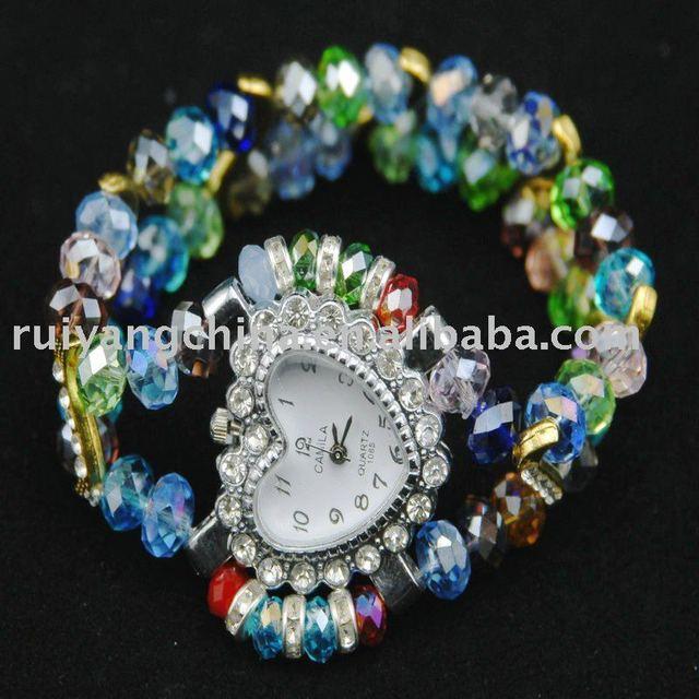 free shipping wholesale MIX style fashion crystal bracelet watch