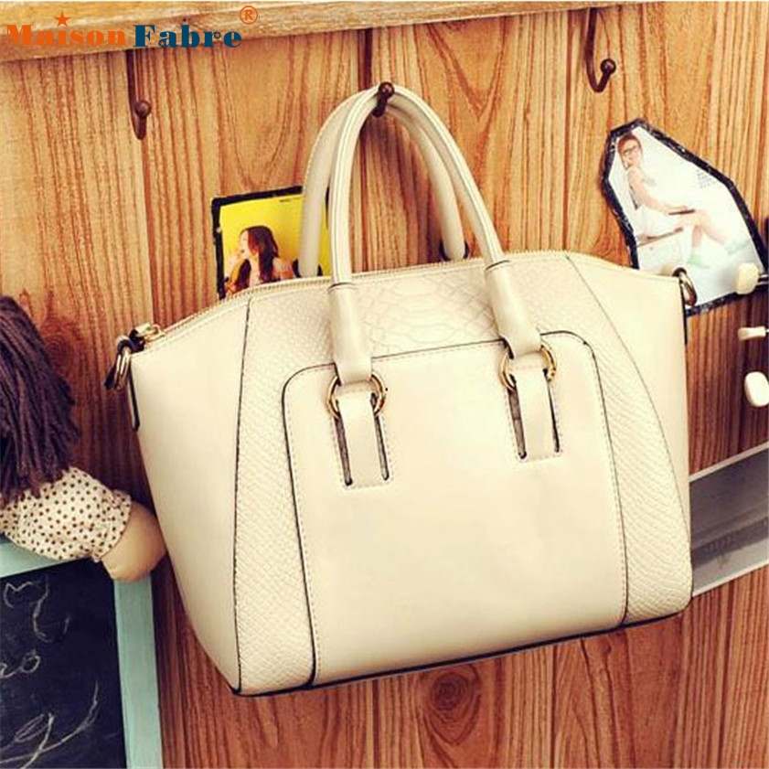 High quality 1PC Women Shoulder Bag Faux Leather Satchel Cross Body Tote Handbag