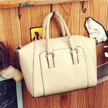 High quality 1PC Women Shoulder Bag Faux Leather Satchel Cross Body Tote Handbag