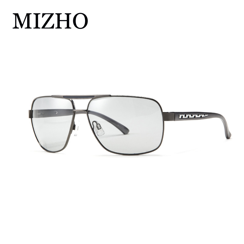 a31ceab9396 MIZHO All-weather Undertone UV Protection Driving Photochromic Sunglasses  Men Polarized Aluminum Night Vision Square Glasses Men