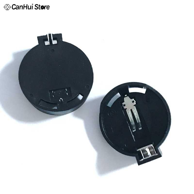 10 cái Di CR2032 CR2025 Chung Nút Battery Clip Holder Box Trường Hợp Đen Ghế Pin Pin Chủ 2032 Giữ Ổ Cắm