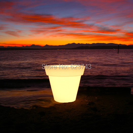 Waterproof H80cm 16 Colors Illuminated Gota Planter Flower Floor BoughPot Light LED Outdoor Flower Pot Lamp Bowl Serving Tray