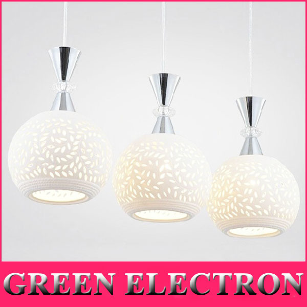 Modern Minimalist White Ceramic Pendant Lights Three LED Pendant Lamp Creative Restaurant Bar Table Lamp Bedroom LED Light high quality led modern minimalist crystal pendant lamp light luxury living room bedroom art creative restaurant hanging lights