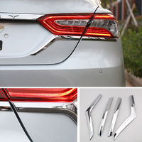 4pcs Set Chrome ABS Car Rear Tail Light Lamp Eyebrow Strip Trim Decal Fit For Toyota