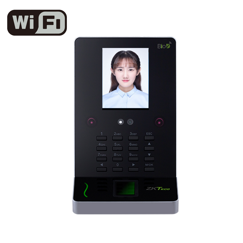 ZKTeco UF600 WIFI Face Recognition Machine Time Attendance Access Control Face Reader Fingerprint Sensor