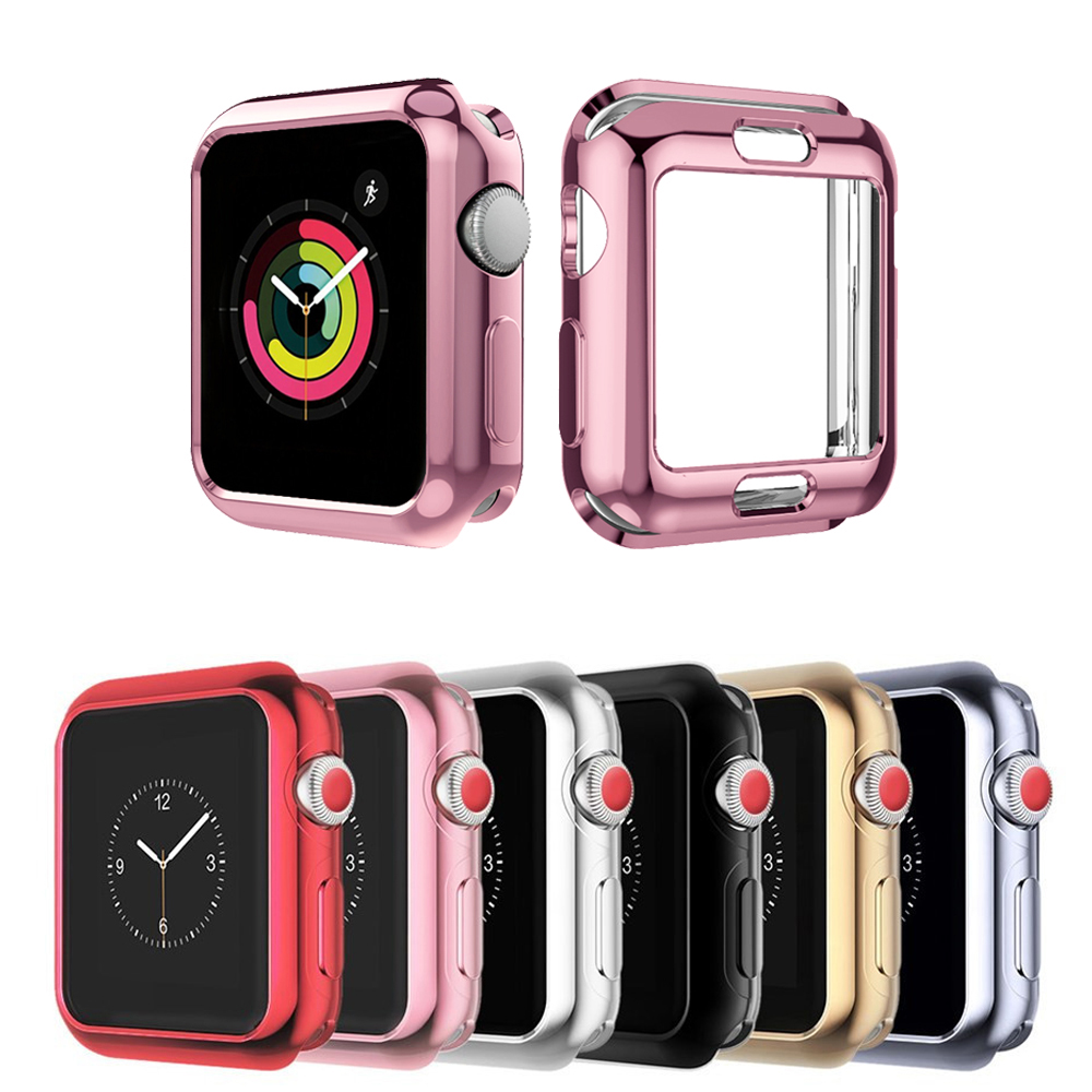 Watch Cover for Apple Watch case 42mm 38mm soft silicone Screen Protector case for iwatch series 3 2 1 All-around Ultra-thin bumvor for apple watch 3 2 1 screen protector tpu all around protective case clear ultra thin cover for apple watch 42mm 38mm