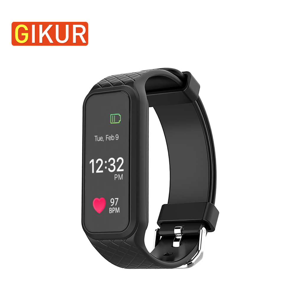 GIKUR L38I Smart Bracelet Bluetooth 4.0 IP67 Waterproof Heart Rate Monitor Smart Watch Call/Message Reminder Anti-Lost Watch wireless service call bell system popular in restaurant ce passed 433 92mhz full equipment watch pager 1 watch 7 call button