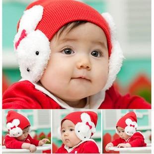 Winter Rabbit Ear Flap Warm Hat Baby Toddler Kids Boys Girl Beanie Cap Crochet Hat