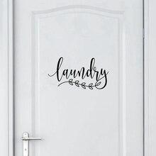 Наклейка для ванной комнаты, домашний декор для туалетной двери, Виниловая наклейка на дверь для прачечной, домашний декор
