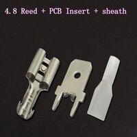 4.8 리드 포지셔닝 블레이드 pcb 회로 기판 솔더 터미널 외장 냉간 압착 단자