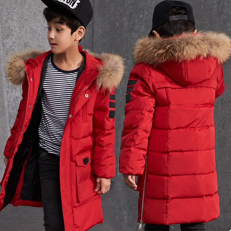 2018 Winter Teenager Boy Down Jackets Children Thick Warm Coat Kids Boys Parkas Boy Winter Fashion Outdoor Jackets Snowsuit цена 2017