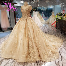 AIJINGYU חתונת שמלות זולות ליד לי טול צנוע כלה בתוספת רכבת קיסרי פורמלי שמלת כלה מקרית
