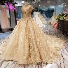 Aijingyu 웨딩 드레스 싼 가운 근처 tulle 겸손한 신부 플러스 기차 제국 비공식 가운 캐주얼 웨딩 드레스