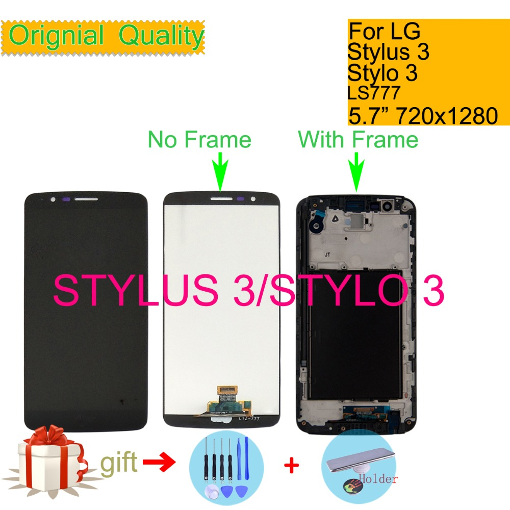 Original For LG For Stylus 3 Stylo 3 K10 Pro M400 LS777 LCD Display Touch Screen Digitizer with Frame Full Assembly replacementOriginal For LG For Stylus 3 Stylo 3 K10 Pro M400 LS777 LCD Display Touch Screen Digitizer with Frame Full Assembly replacement