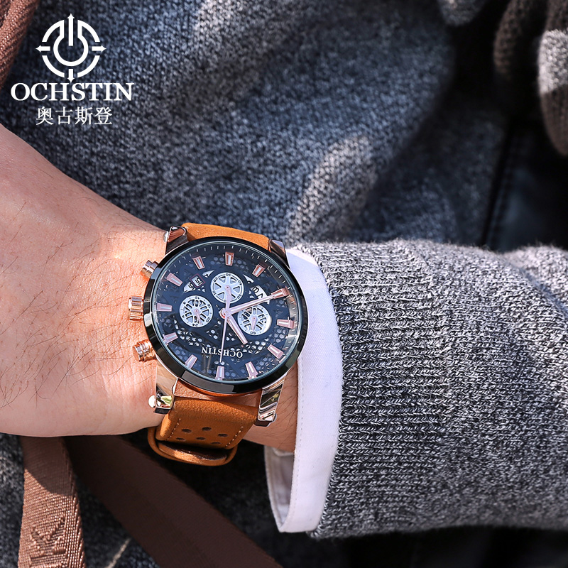 OCHSTIN Chronograph Sport Watch Men Designer Luxury Brand Net Military Watch For Man Clock Male Quartz Watch Relogio Masculino watch men ochstin top luxury brand designer military quartz watch silicone business black sport quartz watch male wristwatch