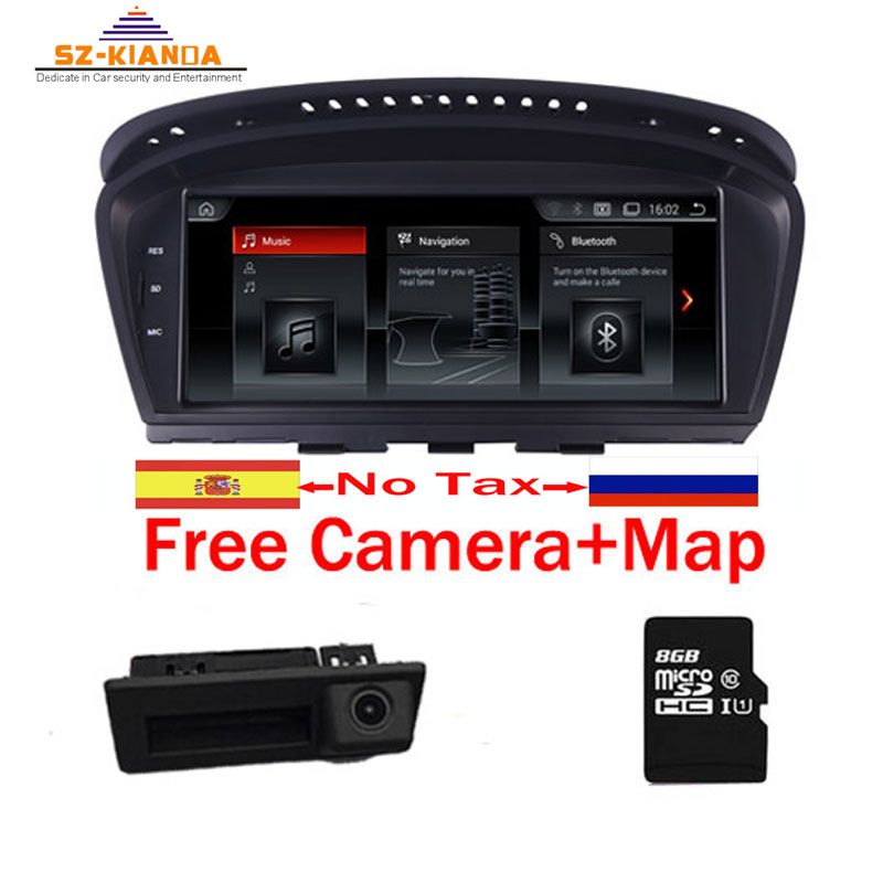 2018 Hot Android 7.1 rádio Car multimedia player para BMW Série 5 E60 E61 E63 E64 E90 E91 E92 CCC CIC iDrive Suporte de Estacionamento