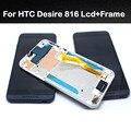 Novo original para htc desire 816 800 d816w display lcd + touch screen digitador assembléia + substituição do quadro peças