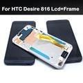 Nueva original para htc desire 816 800 d816w pantalla lcd + pantalla táctil digitalizador asamblea + frame de piezas de repuesto