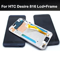 new original for HTC Desire 816 800 D816W LCD display +touch screen digitizer Assembly +frame replacement parts