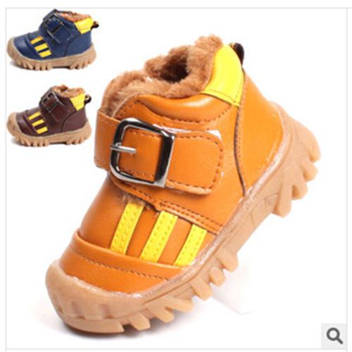 Nuevos 2016 botas de nieve botas zapatos de bebé de los niños zapatos de invierno zapatos para niñas niños Envío Libre Baotou usable gruesa antideslizante 1-232