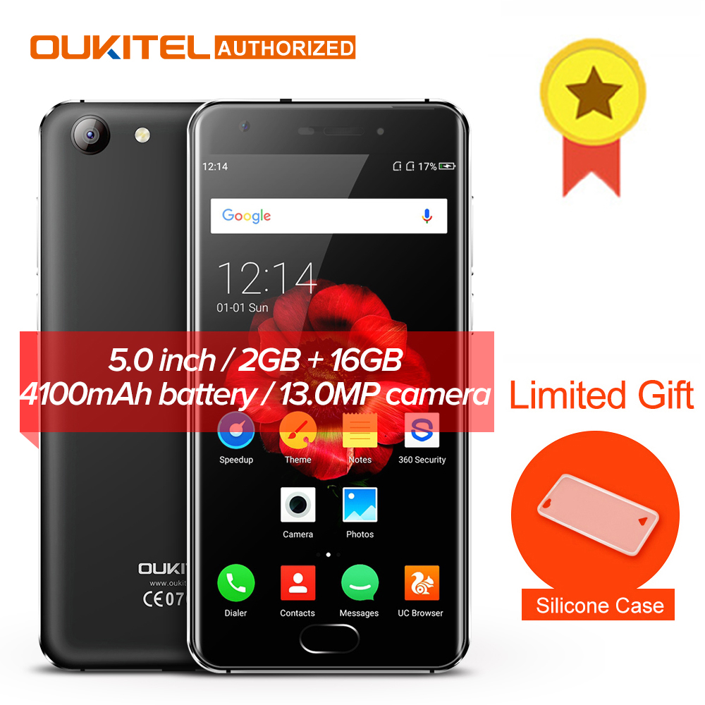 NEU! OUKITEL K4000 Plus 4G Handy 5 ''Android 6.0 MTK6737 Quad Core 1,3 GHz 2 GB RAM 16 GB ROM 13.0MP + 5.0MP 4100 mAh Touch TD