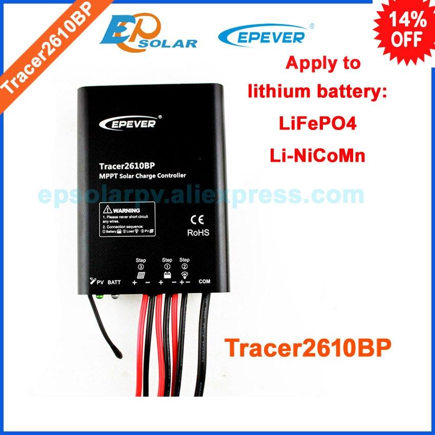 Régulateur panneau solaire EPsolar contrôleur Tracer2610BP pour 12 v 130 w 24 v 260 w panneau système utilisation étanche caractéristique 10A 10amp