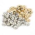 Бусины-разделители из золотистого родия для изготовления браслетов, ожерелий, ожерелий, 5-11 мм, 100-500 шт./лот