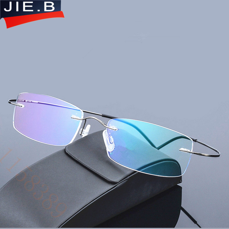 2017 nova marca ultra-leve titanium óculos de armação dos homens rack sem aro óculos frame mulheres óculos miopia quadro de imagem oculos