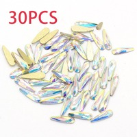 Nail Crystals Gems Rhinestones for Nails 3D Nail Art Decorations Flatback Drop Glass Strass Stone Jewelry AB Diamonds DIY