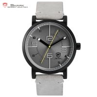 Bahamas Saw SHARK Sport Watch Grey Relogio Masculino Simple 3D Analog Special Number Men Quartz Crazy