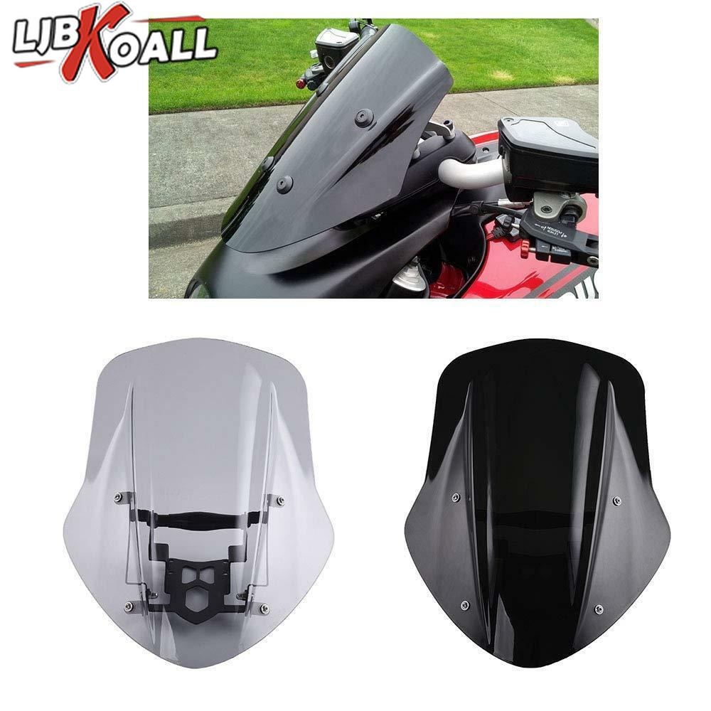 Motorcycle Windshield Windscreen Cover for Ducati Diavel 2014 2015 2016 2017 2018 Wind Shield Deflector with Mounting Bracket